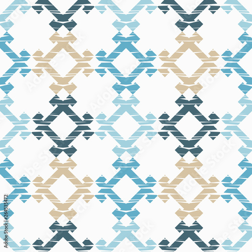 Foto auf AluDibond Boho-Stil Ethnic boho seamless pattern. Embroidery on fabric. Patchwork texture. Weaving. Traditional ornament. Tribal pattern. Folk motif. Can be used for wallpaper, textile, invitation card, wrapping, web pag