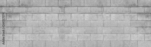 Tela Panorama of cement block wall texture and background