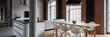 Leinwandbild Motiv Kitchen with dining table