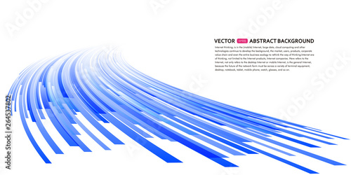 Obraz Abstract perspective background illustration, vector glowing background illustration - fototapety do salonu