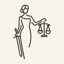 Justice Line Icon