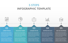 Infographic Template With 5 Steps