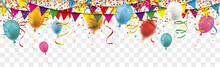 Carnival Confetti Balloons Rib...