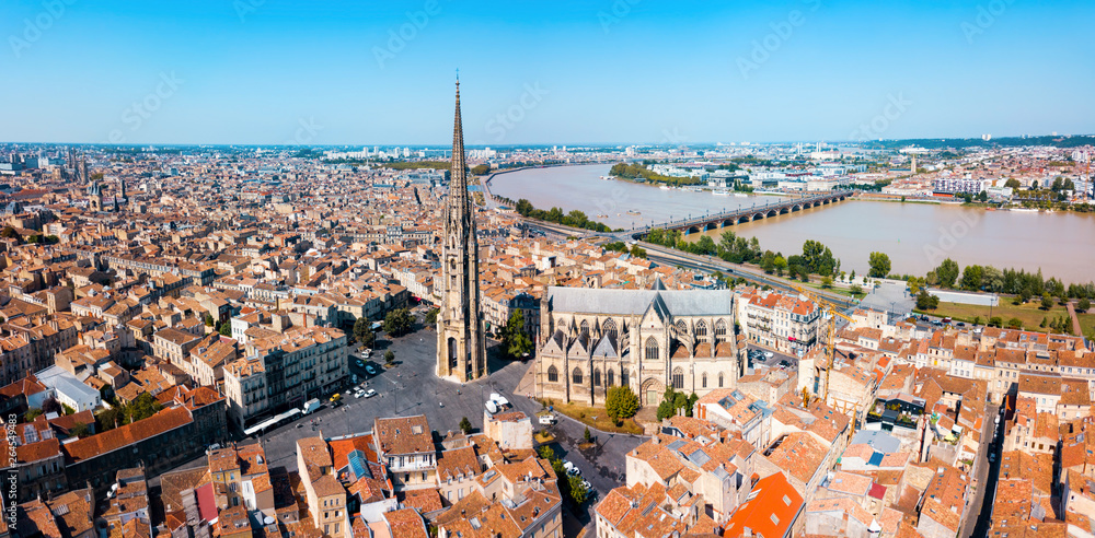 Fototapety, obrazy: Bordeaux aerial panoramic view, France