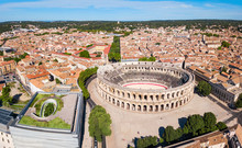 Nimes Arena Aerial View, France