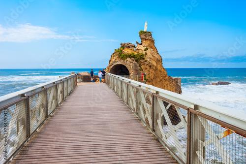 Photo Virgin Rock in Biarritz, France