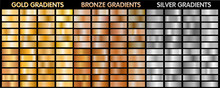 Gold, Silver, Bronze Metalic Gradients