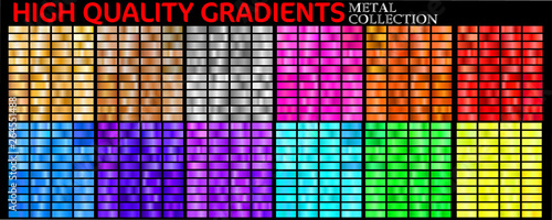 Photo  Set of colorful gradients