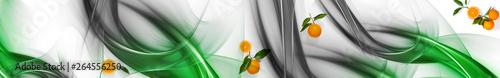 Zielona abstrakcja i pomarańcze | Green abstraction and oranges