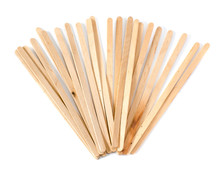 Wooden Coffee Stick On White Background