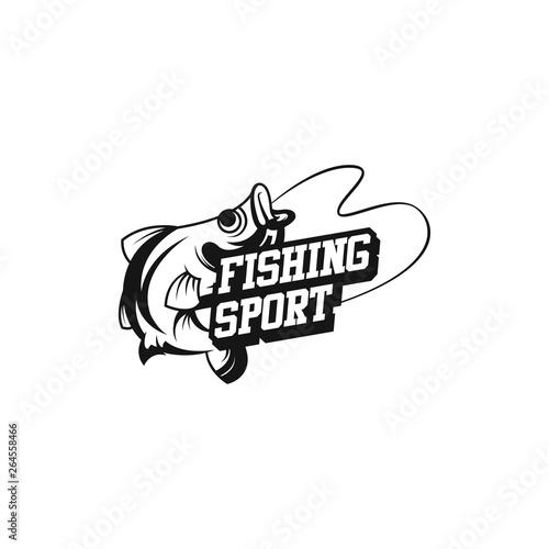 Spoed Fotobehang Halloween Fishing logo