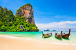 canvas print picture - Clear water beach in Thailand