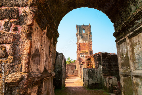 St. Augustine ruined church, Goa Wallpaper Mural