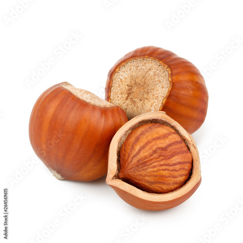 Hazelnuts Isolated On White Background As Package Design