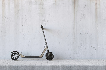 E-Scooter an Wand für Mobilität in der Stadt