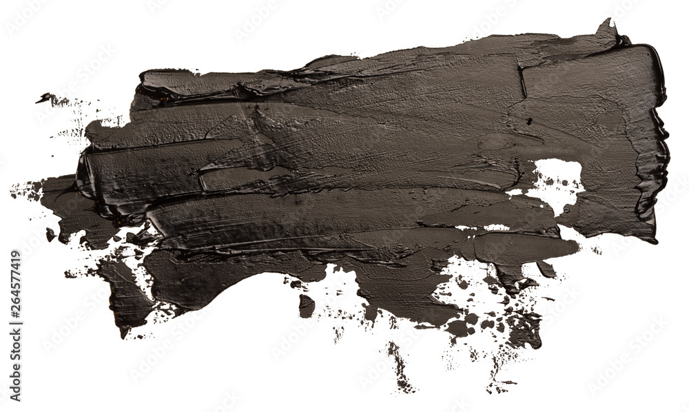 Fototapeta Black oil texture paint stain brush stroke