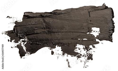 Fototapeta Black oil texture paint stain brush stroke obraz