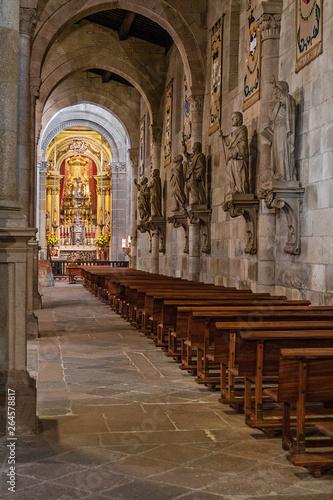 Braga, Portugal - December 28, 2017: Se de Braga Cathedral