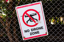 No Drone Sign At Thai Temple