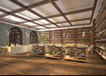 3d Render Grocery Interior