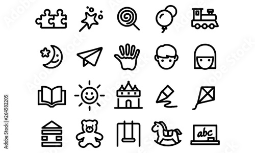 Obraz childhood icons vector - fototapety do salonu
