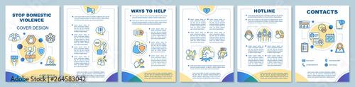 Fotografija Stop domestic violence brochure template layout