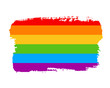 Hand draw LGBT pride flag in vector format. Rainbow flag. LGBTQ love symbol