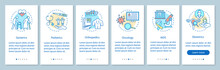 Nursing Service Onboarding Mobile App Page Screen, Linear Concepts