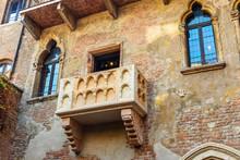Balcony Of Juliet In Juliet Capulet House. Verona. Italy