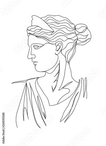 Cuadros en Lienzo One line drawing sketch