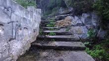 POV Walking Up Rugged, Worn, S...