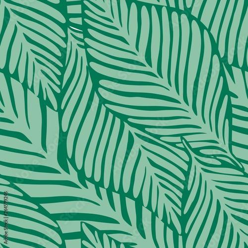 Ingelijste posters Tropische Bladeren Summer nature jungle print. Exotic plant. Tropical pattern,