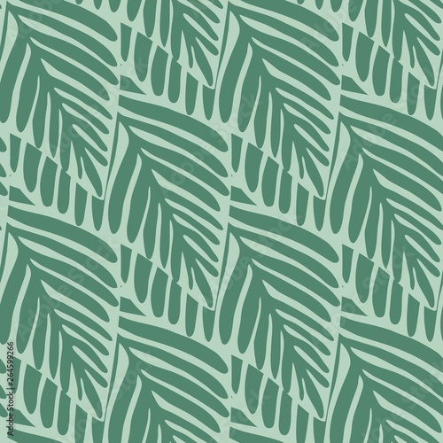 Fotobehang Tropische bladeren Summer nature jungle seamless pattern. Exotic plant.