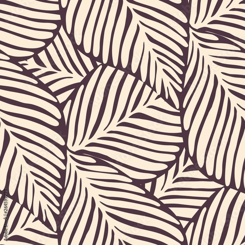 fototapeta na szkło Abstract leaf seamless pattern. Exotic plant. Tropical pattern, palm leaves