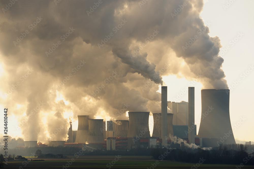 Fototapeta Brown Coal Power Station, North Rhine-Westphalia, Germany, Europe