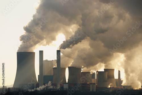 Vászonkép  Brown Coal Power Station, North Rhine-Westphalia, Germany, Europe