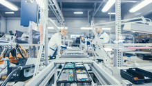 Electronics Factory Works At A...