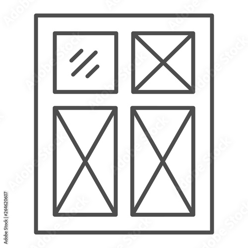Window thin line icon  Frame vector illustration isolated on white