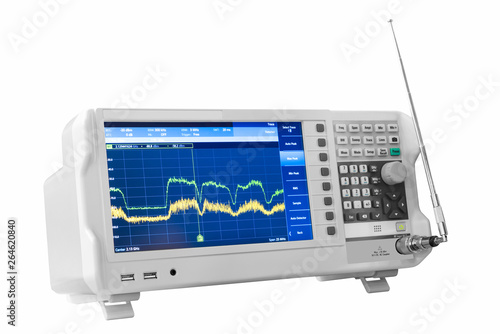 Modern testing equipment - analyzer on white background Wallpaper Mural