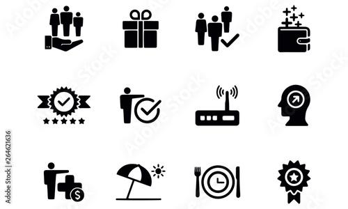 Fototapeta Employee Benefits Icon Set design vector obraz
