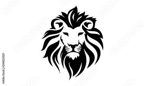 Fototapeta lion head vector design