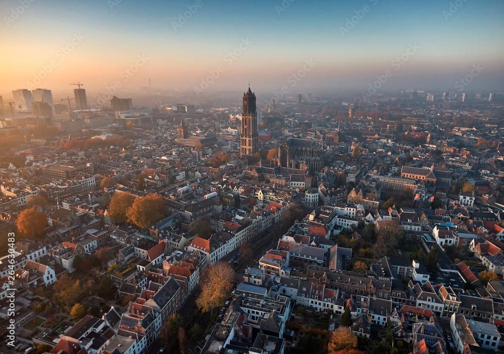 Fototapety, obrazy: Aerial of Utrecht city center