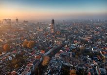 Aerial Of Utrecht City Center