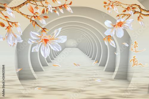 Fototapety 3d   tlo-z-motywem-kwiatowym
