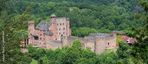 Fototapeta Medieval castle of Hamm in the Eifel forest, Germany