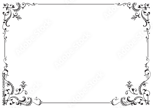 Foto  Calligraphic frame and page decoration. Vector illustration