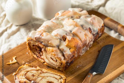 Fotografiet  Homemade Sweet Cinnamon Roll Bread Loaf