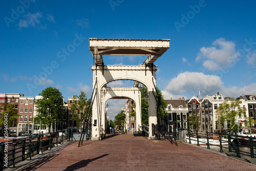 Photo  ?Magere brug? in the center of Amsterdam, capital of the Netherlands