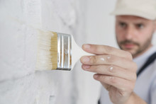 Painting A White Brick Wall Wi...