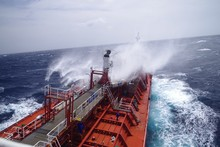 Chemical Tanker During Bad Wea...
